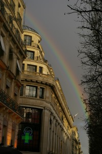Rainbow on the Champs Elysees