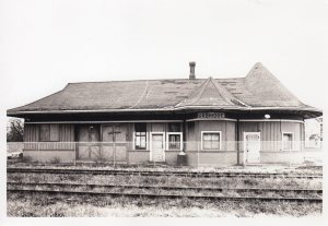 Train Station B&W