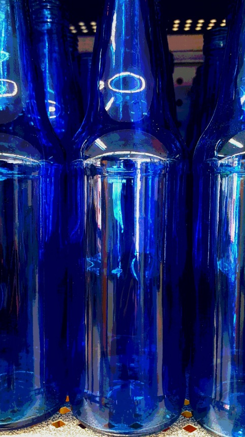 Dark Blue Bottles