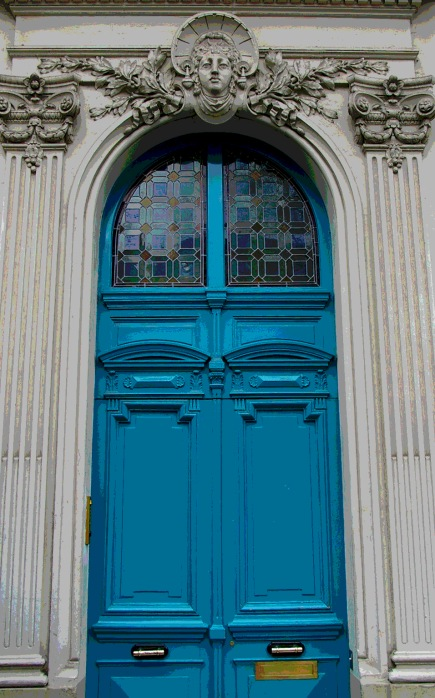 Paris blue double doors