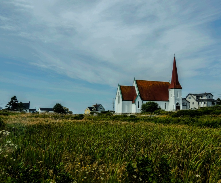 Church in a field