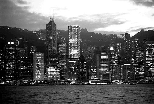 Hong Kong Island at Dusk